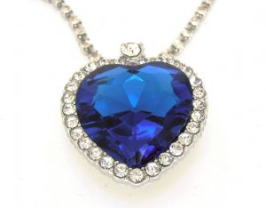 Titanic - The Heart of the Ocean - Mid Blue Pendant